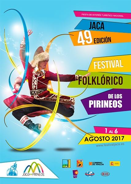 diseño publicitario Cartel Festival Folklórico de los Pirineos